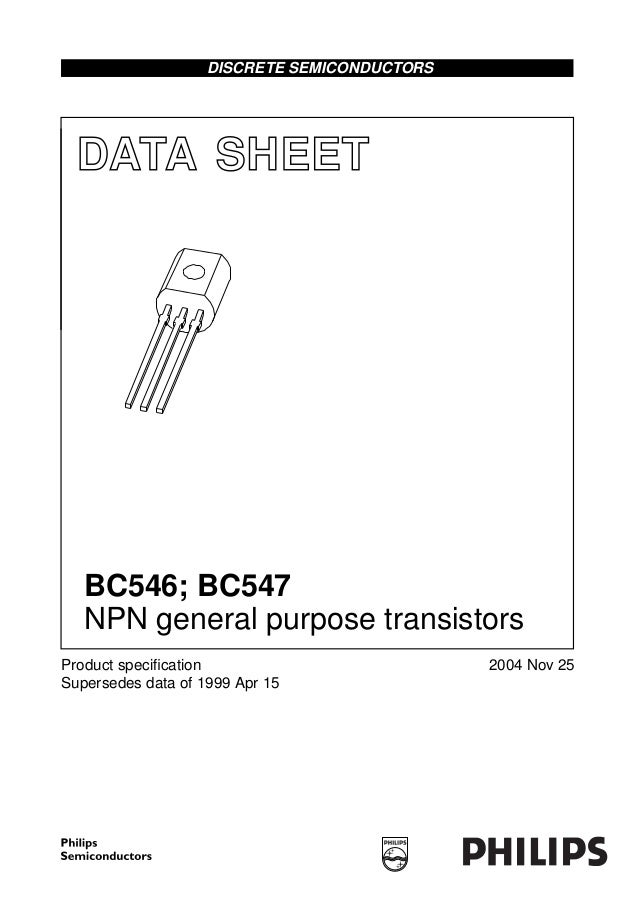 Bc547 datasheet, equivalent, cross reference search. Transistor.
