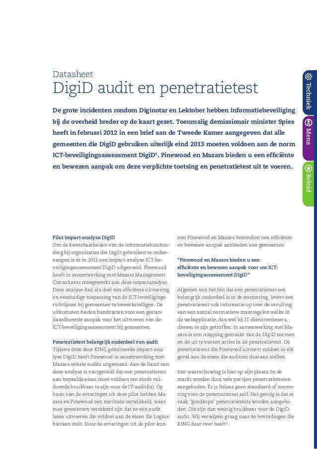BeleidTechniekMens De grote incidenten rondom Diginotar en Lektober hebben informatiebeveiliging bij de overheid breder op...