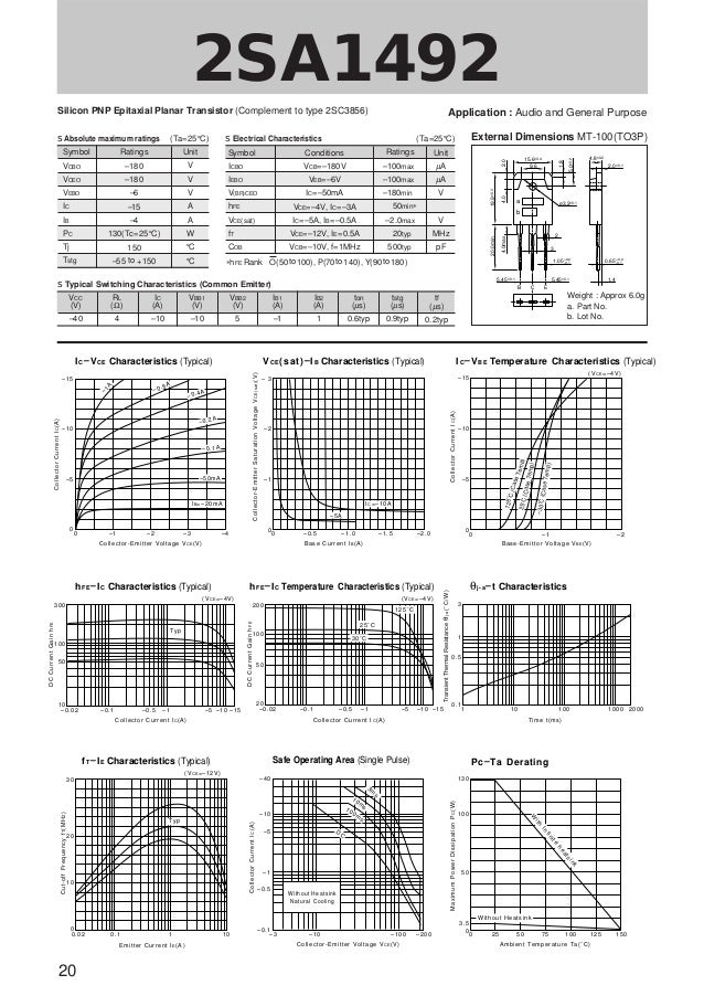 data sheet power transistors sanken rh slideshare net RCA Transistor Cross Reference Transistor Cross Reference Guide