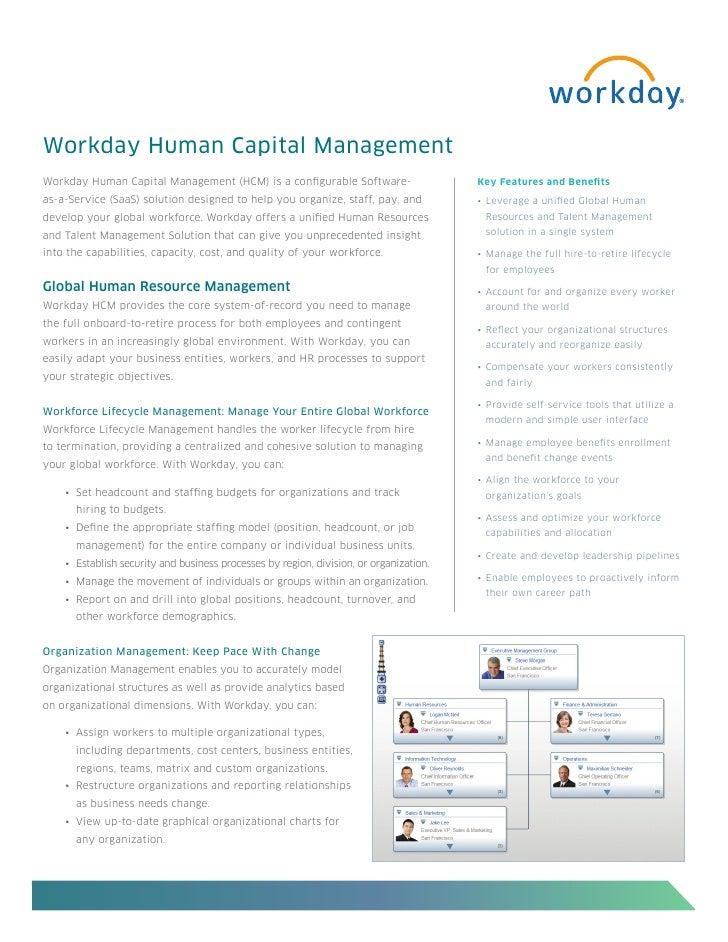 Workday Human Capital Management