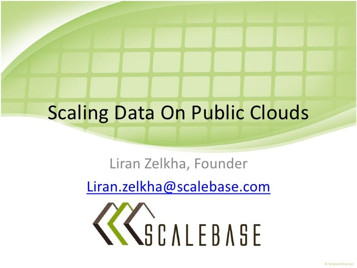 Scaling data on public clouds