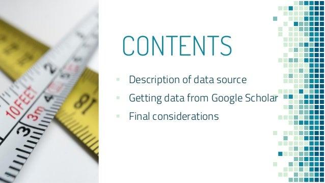 Introduction to bibliometric data sources - Google Scholar Slide 3