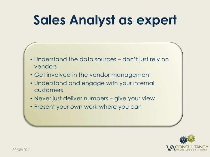 sales analyst - Sales Analyst