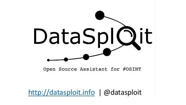 http://datasploit.info   @datasploit