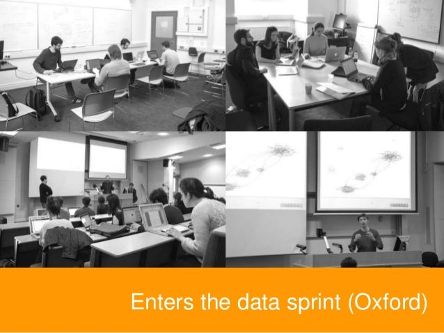 Enters the data sprint (Oxford)