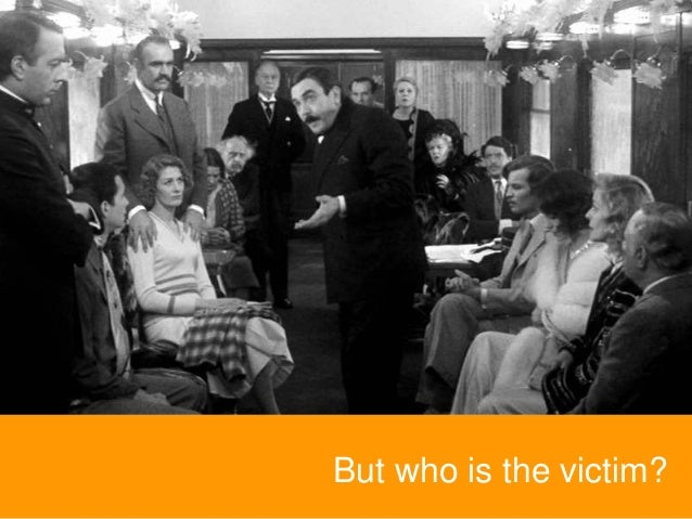 But who is the victim?