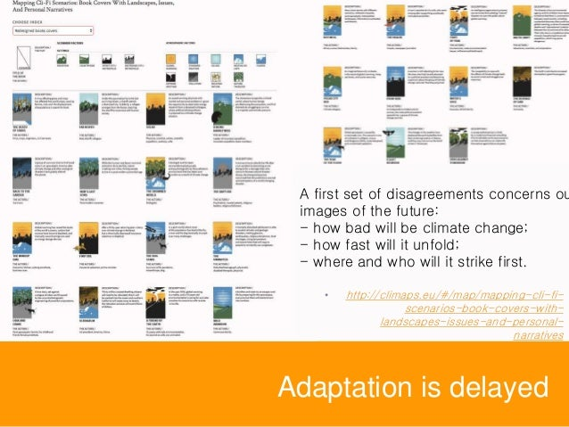 Adaptation is delayed A first set of disagreements concerns ou images of the future: - how bad will be climate change; - h...