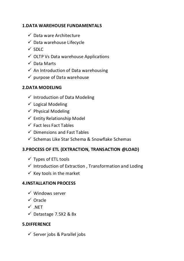 1.DATA WAREHOUSE FUNDAMENTALS  Data ware Architecture  Data warehouse Lifecycle  SDLC  OLTP Vs Data warehouse Applicat...