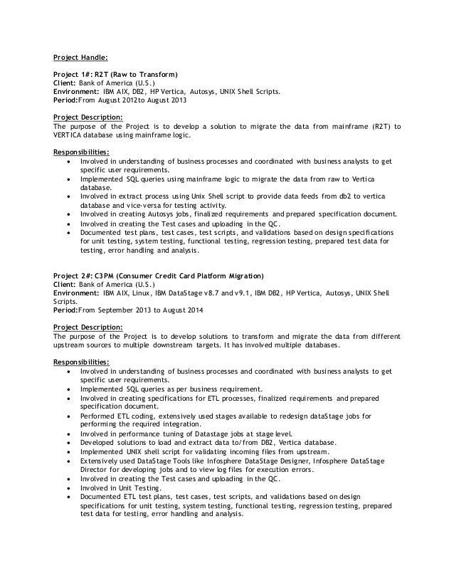 Resume Datastage Developer - frizzigame