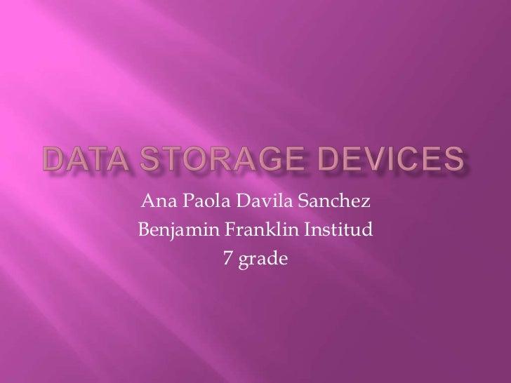 Ana Paola Davila SanchezBenjamin Franklin Institud         7 grade