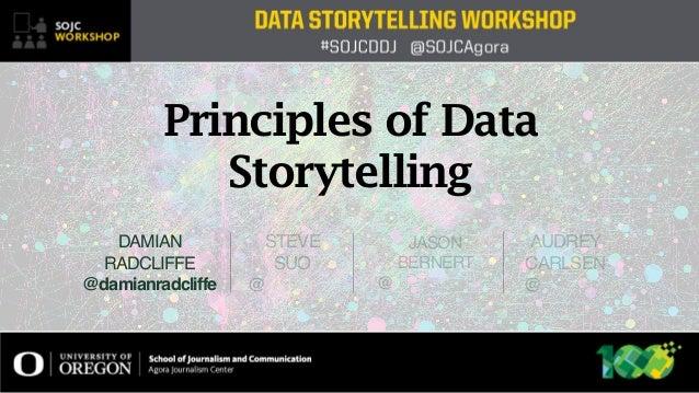 STEVE SUO @ JASON BERNERT @ DAMIAN RADCLIFFE @damianradcliffe AUDREY CARLSEN @ Principles of Data Storytelling