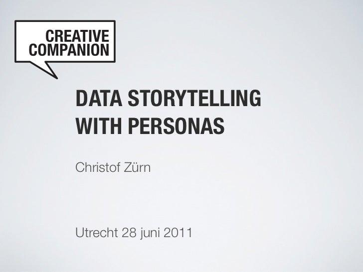 DATA STORYTELLINGWITH PERSONASChristof ZürnUtrecht 28 juni 2011