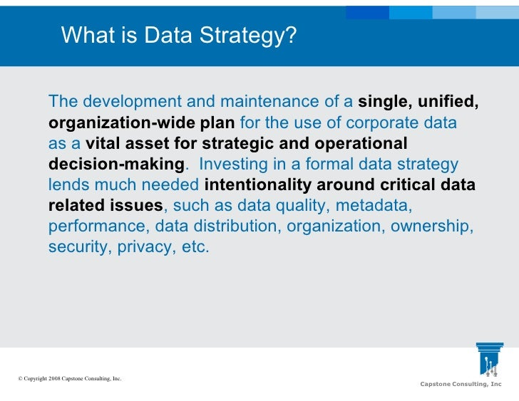 data quality strategy template