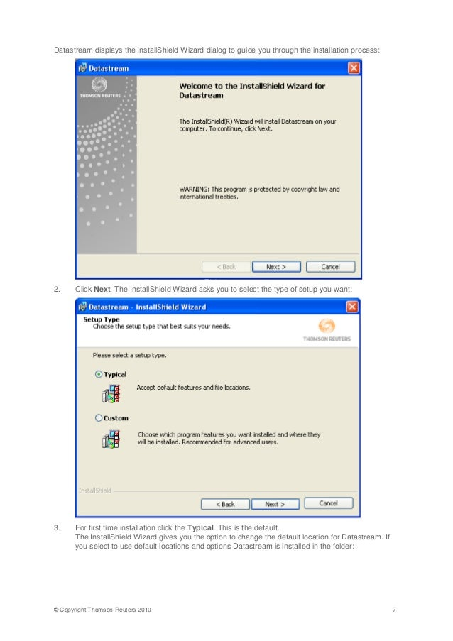 datastream installation guide rh slideshare net InstallShield Virus InstallShield Update