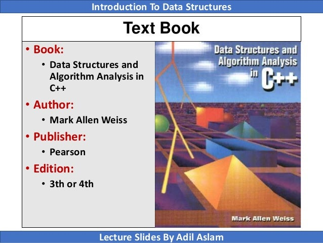 introduction to data structure A practical introduction to data structures and algorithm analysis - java edition  slides derived from material by clifford a shaffer 1.