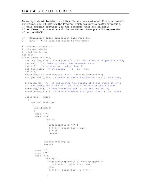 infix to postfix conversion using stack pdf