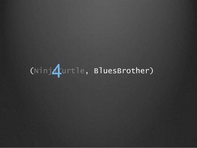 (NinjaTurtle, BluesBrother) 4