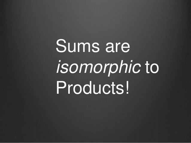 Sums are isomorphic to Products!
