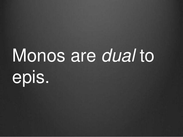 Monos are dual to epis.