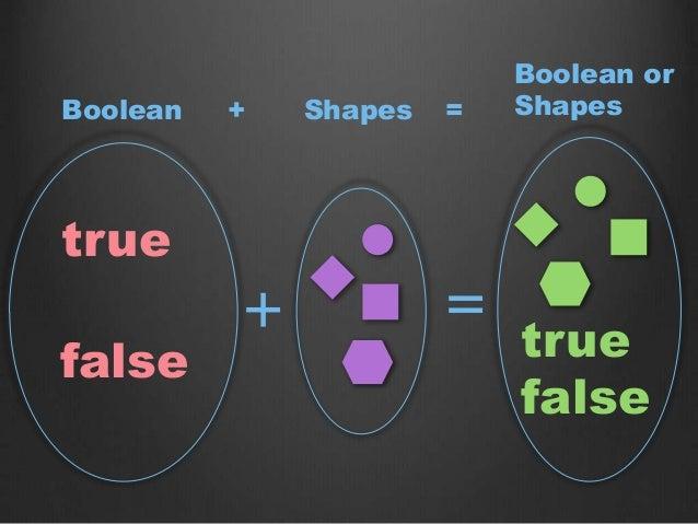 true false + = Boolean Shapes Boolean or Shapes true false + =