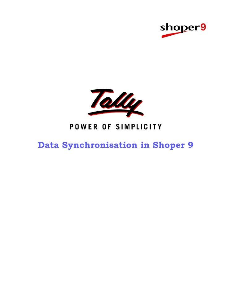 Data Synchronisation in Shoper 9