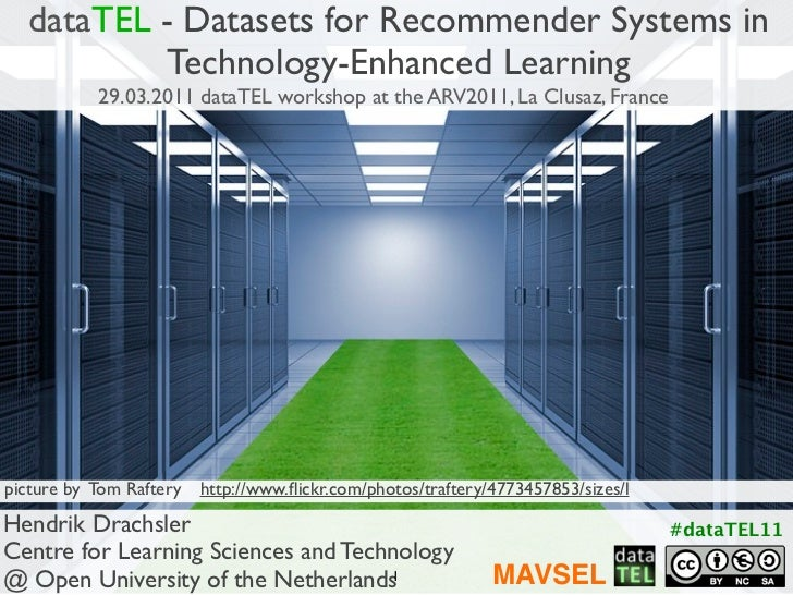 Sets for Recommender Systems in TELA Data Set  dataTEL - Datasets for Recommender Systems in           Technology-Enhanced...