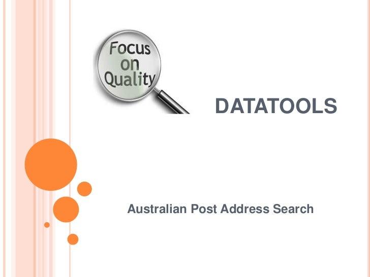 DATATOOLSAustralian Post Address Search