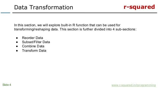 transform date in r