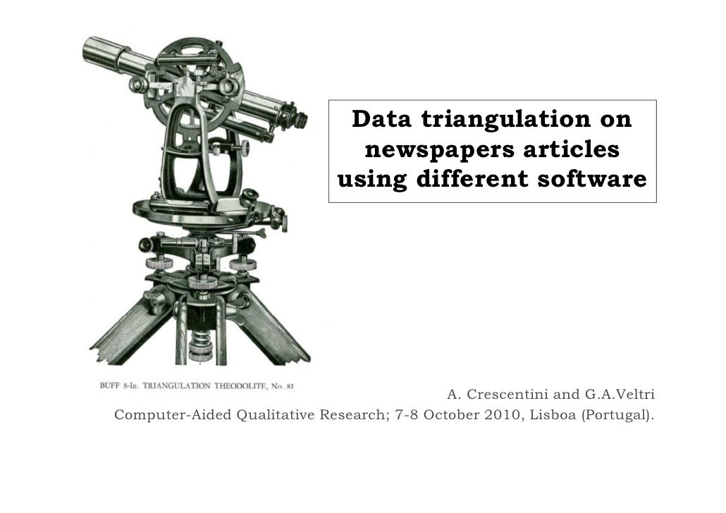 Data triangulation on newspapers articles using different softwarei Slide 2