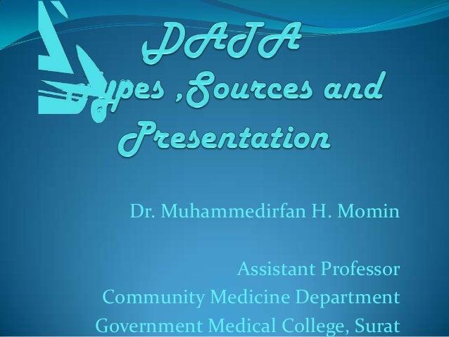 Dr. Muhammedirfan H. Momin             Assistant ProfessorCommunity Medicine DepartmentGovernment Medical College, Surat