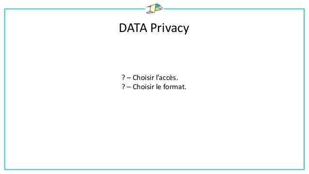 DATA Privacy ! – Le schéma était régulièrement amené à changer. ! – Grand volume de données.