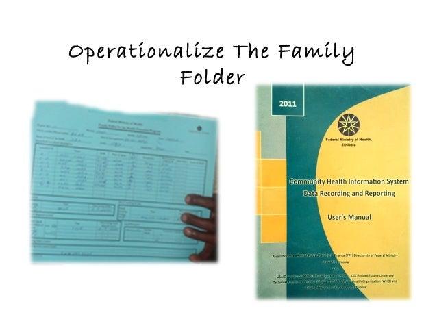 Operationalize The Family Folder