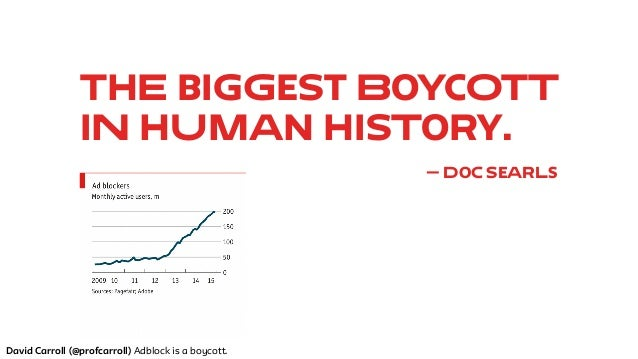 Adblock is a boycott: The failure of Big Data to see it coming. Version 2.0. Big Data + UX Meetup Slide 3