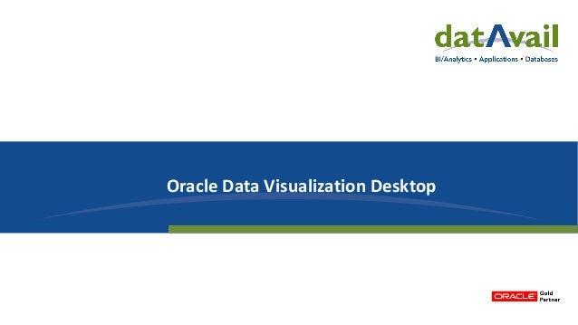 Oracle Data Visualization Desktop