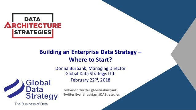 Building an Enterprise Data Strategy – Where to Start? Donna Burbank, Managing Director Global Data Strategy, Ltd. Februar...