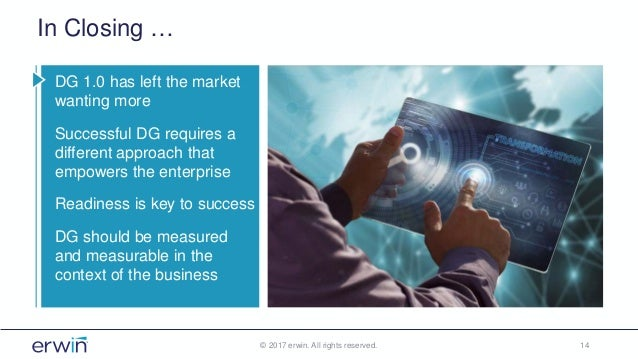 In Closing … DG 1.0 has left the market wanting more Successful DG requires a different approach that empowers the enterpr...