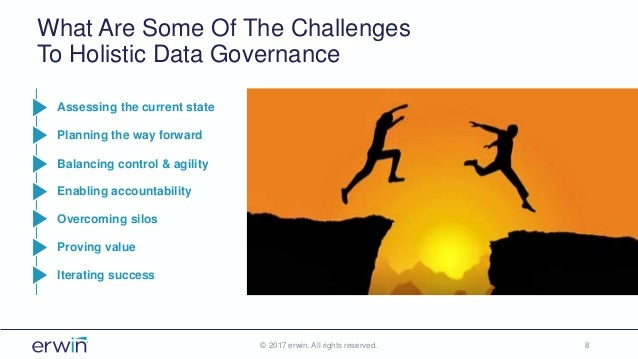 What Are Some Of The Challenges To Holistic Data Governance © 2017 erwin. All rights reserved. 8 Assessing the current sta...