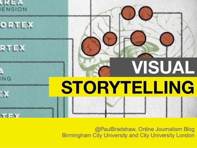 @PaulBradshaw, Online Journalism Blog Birmingham City University and City University London VISUAL STORYTELLING