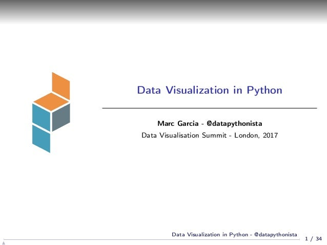 Data visualization in Python
