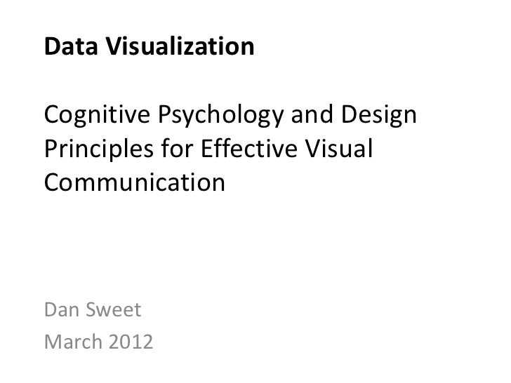 Data VisualizationCognitive Psychology and DesignPrinciples for Effective VisualCommunicationDan SweetMarch 2012