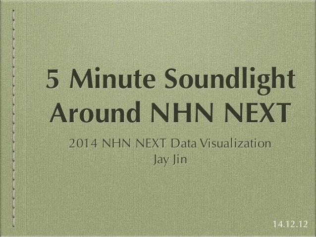 5 Minute Soundlight  Around NHN NEXT  2014 NHN NEXT Data Visualization  Jay Jin  14.12.12