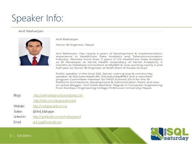 Speaker Info: Blogs: http://anilmaharjanonbi.wordpress.com http://bidn.com/blogs/author/anil Website: http://maharjananil....