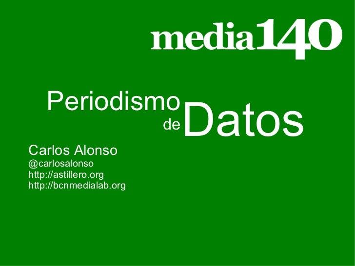 Carlos Alonso @carlosalonso http://astillero.org http://bcnmedialab.org Datos Periodismo de