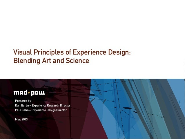 Visual Principles : Visual principles of experience design blending art and