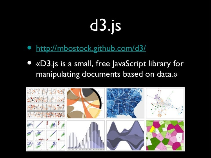 Data vizualisation: d3.js + sinatra + elasticsearch Slide 3