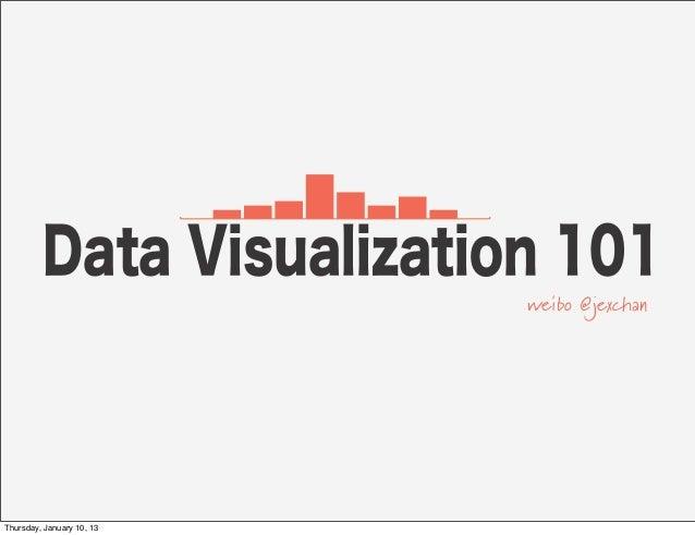 Data Visualization 101                           weibo @jexchanThursday, January 10, 13