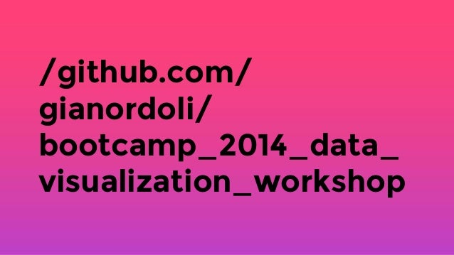 Data Visualization Workshop