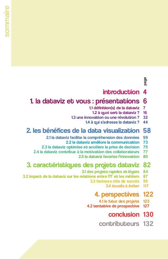 5 1.1 définition(s) de la dataviz fig 1 - sommaire comprendre la data visualization au travers de 30 cas concrets introduc...