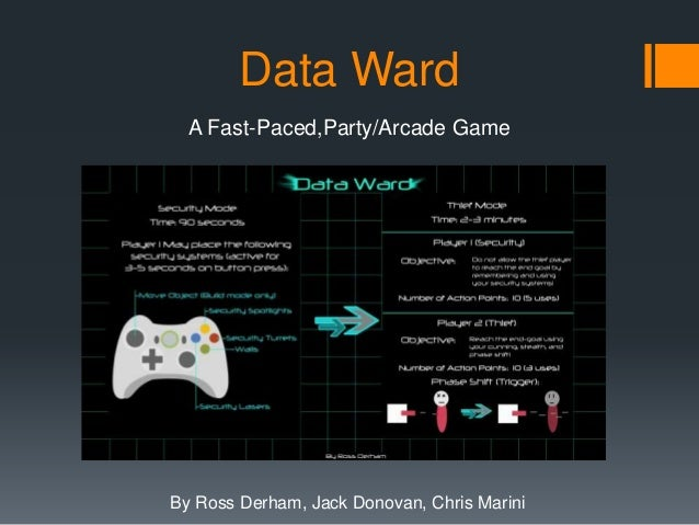 Data Ward  A Fast-Paced,Party/Arcade GameBy Ross Derham, Jack Donovan, Chris Marini