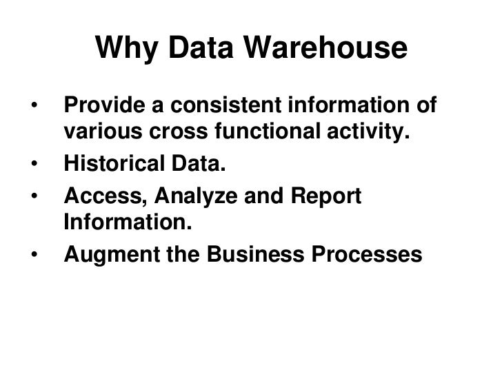 Data warehouse architecture